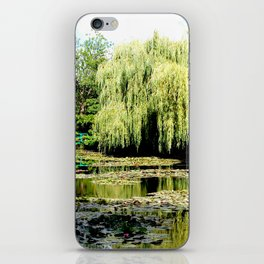 Willow Tree in Monet's Garden  iPhone Skin