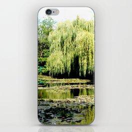 Willow Tree in Monet's Garden  iPhone Skin
