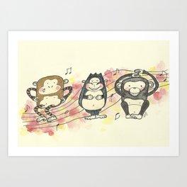 Primate Song Art Print