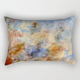 Gentle Shores - Original Abstract Art by Vinn Wong Rectangular Pillow