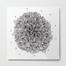 Liquid Zentangle-ing Metal Print
