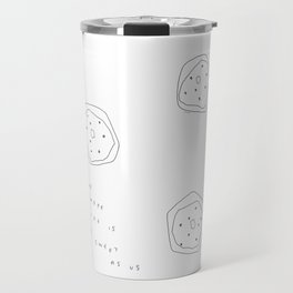 Words from Doughnuts - donut illustration humor quote Travel Mug
