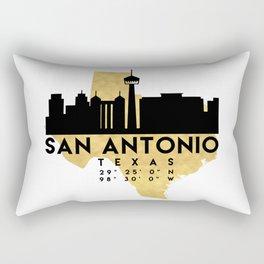 SAN ANTONIO TEXAS SILHOUETTE SKYLINE MAP ART Rectangular Pillow