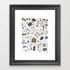 Girly Objects Framed Art Print
