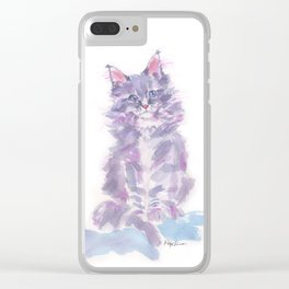 Little Violette Clear iPhone Case