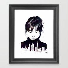 City Girl Framed Art Print