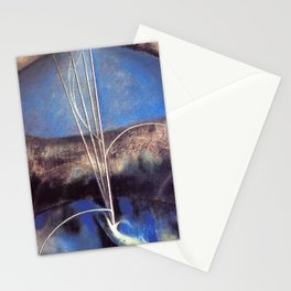 Song of the Nightingale, Tuscany, Italy landscape by Joseph Stella Stationery Cards