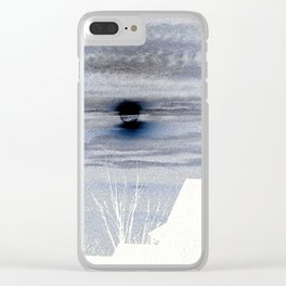 Moon Over Suburbia Clear iPhone Case