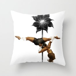 Pennys Shuriken Pole Dance Throw Pillow