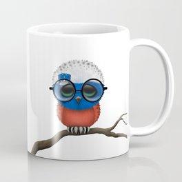 Baby Owl with Glasses and Slovenian Flag Coffee Mug