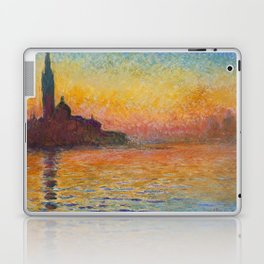 Claude Monet San Giorgio Maggiore at Dusk (Venice) Laptop & iPad Skin