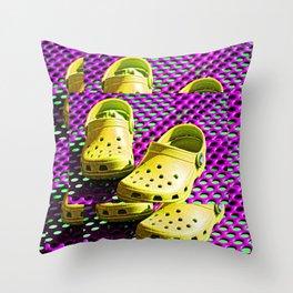 Pop Art Crocs By Sharon Cummings Throw Pillow