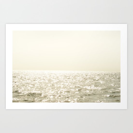 Sea and Sky Ombre Art Print