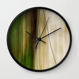 Forest, Water, Lines Wall Clock