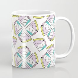 Memphis Tropical Watermelon Pattern, Seamless Vector Background Coffee Mug
