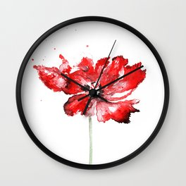 Poppy blooming 1 Wall Clock