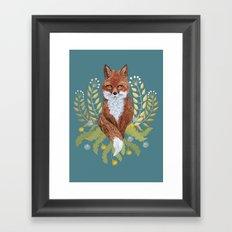 Fox Brown Framed Art Print