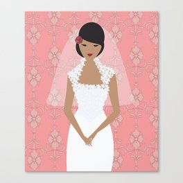 Pink Bride Canvas Print