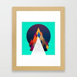 066 - Owly climbing the coloured holy mountain Framed Art Print