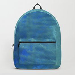 Steel blue abstract Backpack