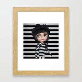 Stripes Style Blythe by Erregiro Framed Art Print