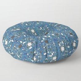 Blue tech Floor Pillow