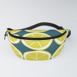 Modern Yellow Lemon Pattern Fanny Pack