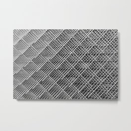 Abstract gray geometrical, mechanics and engineering iron metal tube grid Metal Print