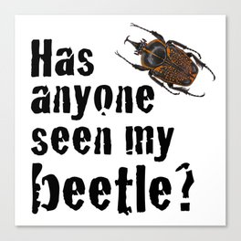 Beetle Search Canvas Print