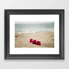 Beach Flowers Framed Art Print