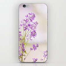 Purple Nature Photography, Lavender Floral Botanical Photography, Light Purple Nature Art iPhone & iPod Skin