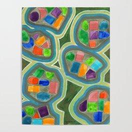 Jewel Nests Pattern Poster