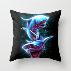 Bull Sharks Throw Pillow