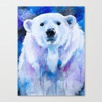 polar bear Canvas Prints featuring Polar bear  by Slaveika Aladjova