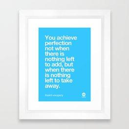 Design Quotes #10 Framed Art Print