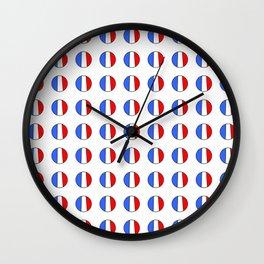 Flag of France 15- France, Français,française, French,romantic,love,gastronomy Wall Clock