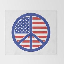 Peace in America Throw Blanket