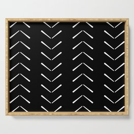 Black And White Big Arrows Mud cloth Serving Tray