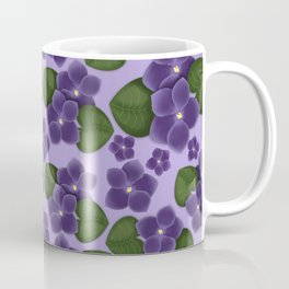 Violets are purple Floral Pattern Blossoms Coffee Mug