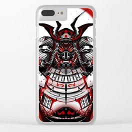 Samurai Artwork Clear iPhone Case