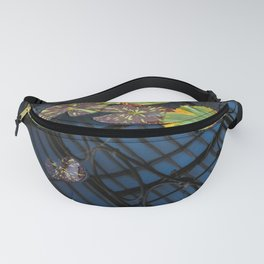 Lily pond reflections. Nature photography poster art print  Fanny Pack