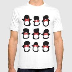 Penguins White Mens Fitted Tee MEDIUM