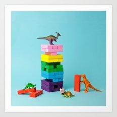 Dinosaur games Art Print