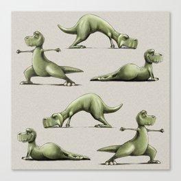 Yogasaurs (Sand) Canvas Print