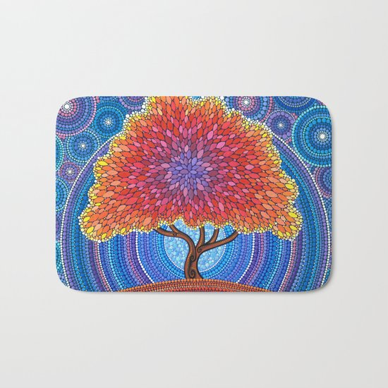 Autumn Blossoms Bath Mat
