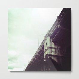 BURNSIDE BRIDGE, DOWNTOWN PORTLAND, OR Metal Print