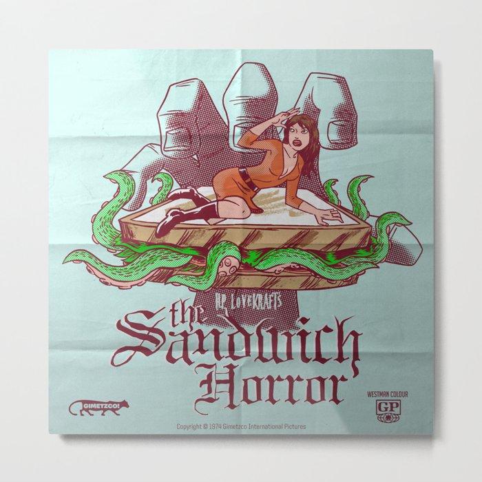 H.P. LoveKRAFT's  The Sandwich Horror Metal Print