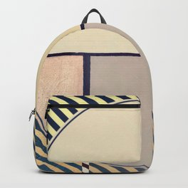 Toned Down- navy stripe Backpack