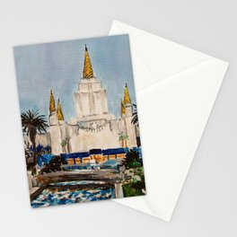 Oakland California LDS Temple Dusk Stationery Cards