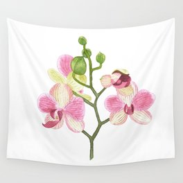 Pink Orchid Wall Tapestry
